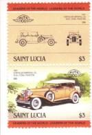 Chrysler Imperial CG Dual Cowl Phaeton  (1931)  -  2v Se-tenant MNH  -   Saint Lucia - Voitures