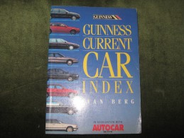 Guinness Current Car Index - 1000 Models Specification Details - Ivan Berg - Books, Magazines, Comics