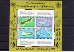 BIOT - Bloc Neuf 10ème Anniversaire - Territoire Britannique De L'Océan Indien