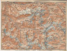 1914´s Color Map Of OISANS Vallee De La Romanche Etc.  & Surroundings Le Freney  La Grave  Villar D'Arene  Mont De Lans - Geographical Maps