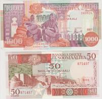 SOMALIE  2   BANKNOTES    VF   Ref  651 - Somalia
