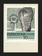 Färöer Inseln 1981 ,  Maximum Card (Nr.1) - Historic Writings - First Day  19.10.1981 - Féroé (Iles)