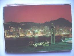 Hong Kong  China Panorama With Lights - China (Hongkong)