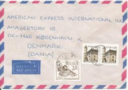 Poland Air Mail Cover Sent To Denmark Krakow 9-11-1981 - 1944-.... Republic