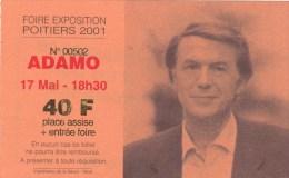 ADAMO   POITIERS FOIRE EXPOSITION  2001