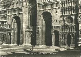 REGNO UNITO  LINCOLNSHIRE  LINCOLN   Cathedral  West Front - Lincoln
