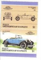 Duesenberg Model A  (1922)  -  2v Se-tenant MNH  -   Bequia - Voitures