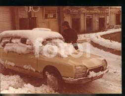 ORIGINAL AMATEUR PHOTO FOTO  CITROEN GS ESPANA SPAIN Portuguese Plate Lcs13 - Automobiles