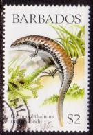 BARBADOS 1988 SG #862 $2 VF Used Lizards - Barbados (1966-...)