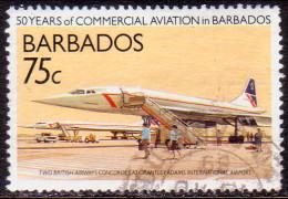 BARBADOS 1989 SG #878 75c VF Used Commercial Aviation - Barbados (1966-...)