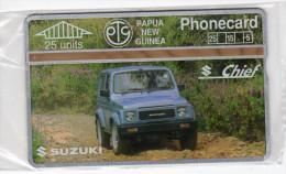 PAPOUASIE NOUVELLE-GUINEE TELECARTE 25U  MV Cards PNG-022a  SUZUKI CHIEF CN 311D MINT