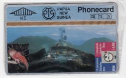 PAPOUASIE NOUVELLE-GUINEE TELECARTE 5U  MV Cards PNG-029  TELECOM TOWER CN 404A MINT - Papua New Guinea