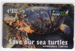 FIDJI TELECARTE  MV Cards FIJ-083 HAWKSBILL TURTLE TAKU  CN 17FIB - Fidji