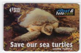 FIDJI TELECARTE  MV Cards FIJ-084 GREEN TURTLE VONA DINA CN 17FJB - Fidji