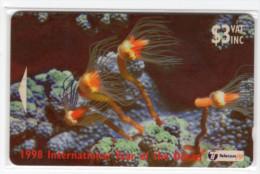 FIDJI TELECARTE  MV Cards FIJ-120 HYDROID TUBULARIA CN 24FJB - Fidji