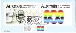 Australia 1982 - 50th Anniversary ABC Radio LARGE Maxi Card - Maximum Cards