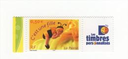 Timbre Personnalisé C´est Une Fille YT 3634A Avec Logo TPP Et GOMME MATE . Voir Le Scan . Cote Maury N° 20 : 7 € . - France