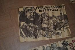 lot de 5 affiches de russie propagande russe revolution ???