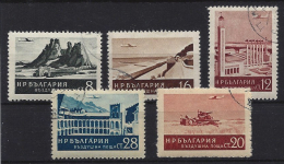 Bulgaria - 1954. Air Post - Belogradchic Rocks,Air View Of Plovdiv,Beach Varna,Rila Monastery USED!! Mi:904-908. - Used Stamps