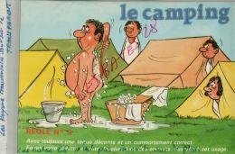 CPA Fantaisies Humour Dessinateur  LE CAMPING  Ayez Toujours Une Tenue Décente   REGLE N°3  AVR 2015 075 - Ilustradores & Fotógrafos