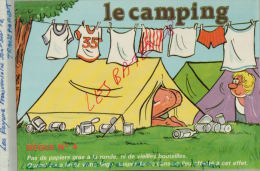 CPA Fantaisies Humour Dessinateur  LE CAMPING  Pas De Papier Gras à La Ronde   REGLE N°4   AVR 2015 077 - Ilustradores & Fotógrafos