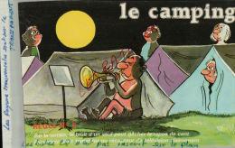 CPA Fantaisies Humour Dessinateur  LE CAMPING  Sur Le Terrain, Le Bruit D'un Seul Peut...   REGLE N°5   AVR 2015 079 - Künstlerkarten