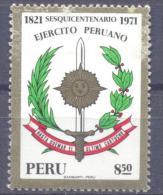 1971. Peru,  150y Of Army, Mich. 839, 1v, Mint/** - Peru