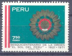 1971. Peru,  150y Of The Award, Mich. 831, 1v, Mint/** - Pérou