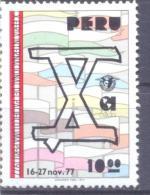 1977. Peru,  International Peace Miting, Mich. 1071, 1v, Mint/** - Peru