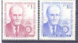 1970. Chile, Person, Mich. 725/26, 2v, Mint/** - Chile