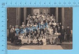 Canadian Classroom  ( Real Photo Circa 1904-1918 )recto/Verso - Ecoles