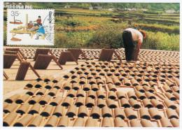 Portugal 1992 Making Tiles, Maximum Card Maxicard - Cartoline Maximum