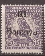 1919  15-17   BARANYA  UNGARN SERBIA JUGOSLAVIJA OVERPRINT  INTERESSANT  - TYP II NEVER HINGED - Baranya