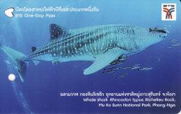 Thailand BTS Card  Ticket  Fish Shark Whale - Eisenbahnen