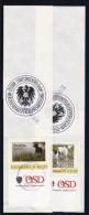 1309s: Personalisierte Hundemarken Aus Österreich: 3 ÖSD- Originalbanderolen (2 Scans) - Autriche