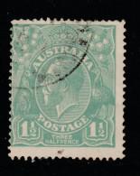 1923 1 1/2d Pale-Blue-Green FU BW88E