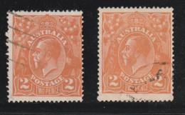 1920/21 2d Brown-orange/Dull Orange FU Sg 62/62a