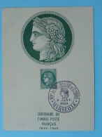 Carte Maximum Cérès Centenaire Du Timbre Marseille 1949 Ref 46099 - Cartoline Maximum
