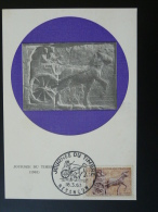 Carte Maximum Card Archéologie Romaine Cheval Horse Journée Du Timbre 1963 Besançon Doubs Ref 46308 - Archéologie