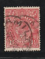 """1924 1 1/2d Scarlet VFU Sg 77 """"Hamilton"""""""