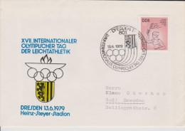 Sp 485) DDR Mi# 2065 SSt Dresden 13.6.1979: XVII. Intern. Olympischer Tag,  Leichtathletik - Leichtathletik