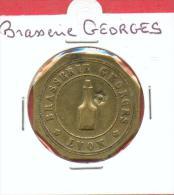 JETON DE NECESSITE DE LYON - BRASSERIE GEORGES - Monétaires / De Nécessité