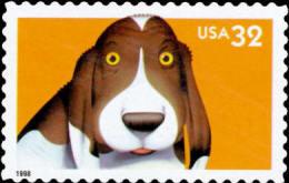 #3230 USA 1998 Bright Eyes Stamp-Dog Pet Animal - Childhood & Youth