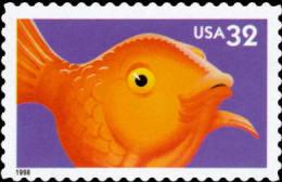 #3231 USA 1998 Bright Eyes Stamp-Fish Goldfish Pet Animal - Childhood & Youth