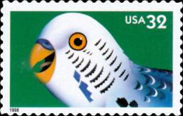 #3233 USA 1998 Bright Eyes Stamp-Parakeet Parrot Pet Animal - Childhood & Youth