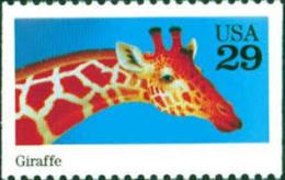 Sc#2705 1992 USA  Wild Animal Stamp Giraffe - Childhood & Youth
