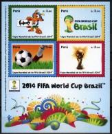 Peru 2014 ** Copa Mundial FIFA De Brasil.  See Description. - Peru