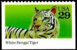 Sc#2709 1992 USA Wild Animal Stamp White Bengal Tiger WWF - Childhood & Youth