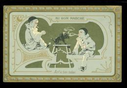 Chromo ( 3823 )  Au Bon Marché  :  Ah ! Le Bon Tabac  - Pierrot - Au Bon Marché