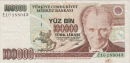 TURQUIE   BANKNOTE    F   Ref  662 - Turquie